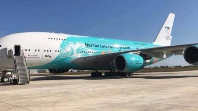 Maior avião do mundo já aterrou em Beja