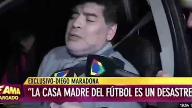 Maradona envolvido em nova polémica. Eis o estado do argentino ao volante