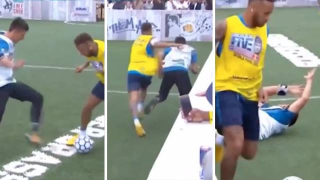 Neymar tentou 'humilhar' adversário, correu mal e acabou por fazer falta