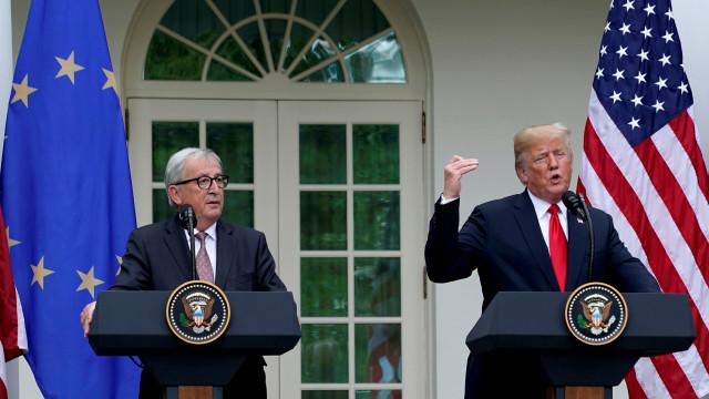 Juncker e Trump anunciam acordo e afastam horizonte de guerra comercial