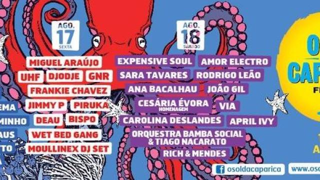 Festival O Sol da Caparica regressa de 16 a 19 de agosto