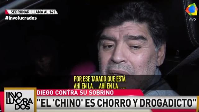 Maradona envolvido em mais uma polémica, desta vez com o sobrinho