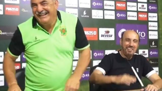 Vítor Oliveira e Manuel Cajuda deram conferência em conjunto