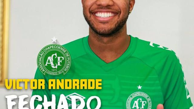Oficial: Benfica empresta Victor Andrade à Chapecoense