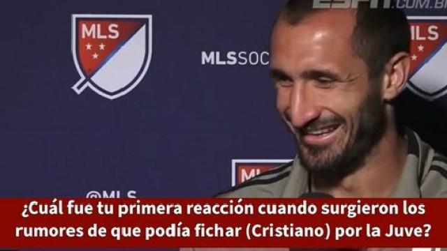 """Chiellini revela primeira reação face aos rumores de CR7: """"Impossível"""""""