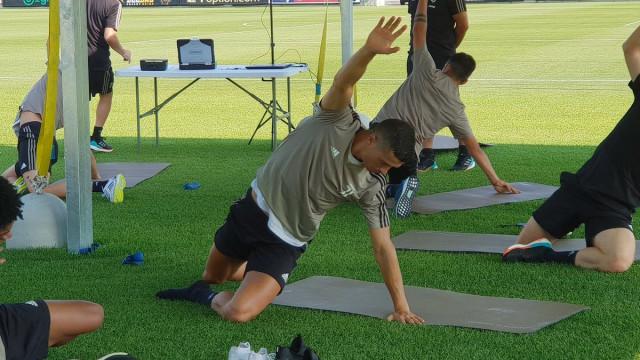 O primeiro treino de Ronaldo no relvado da Juventus