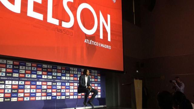 Gelson apresentado no Atlético e Sporting foi tema tabu