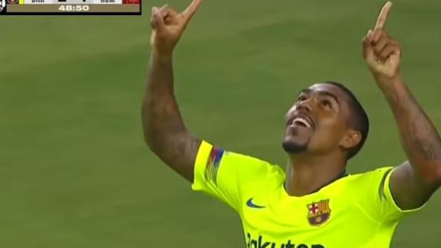 Malcom chegou, viu e... já marcou pelo Barcelona