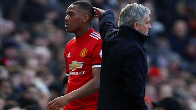 """Mourinho alertou Martial e este respondeu: """"A minha família vem primeiro"""""""