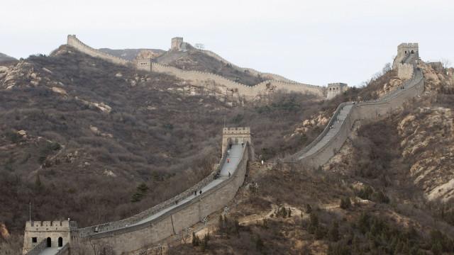 Parte da Grande Muralha da China colapsou