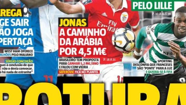 Marega, Jonas e Rafael Leão em rota de colisão com os seus clubes