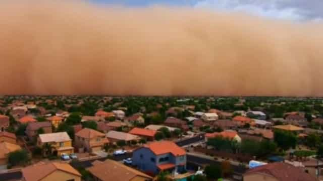 Tempestade de pó massiva atingiu o Arizona. Veja as imagens