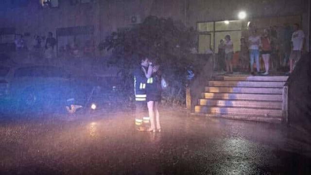 Bombeiros de Matosinhos em operação especial: um pedido de casamento