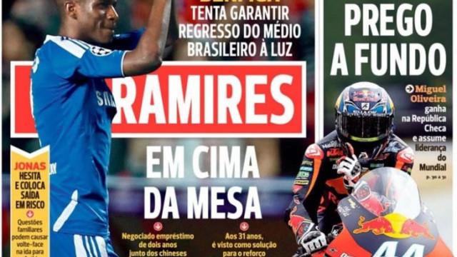 """Benfica tenta Ramires, orquestra """"desafinada"""" e caso Marega esclarecido"""