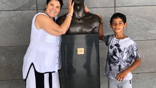 O reencontro entre Dolores Aveiro e o neto, Cristianinho