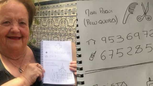 Neto desenha contactos telefónicos para a avó que não sabe ler