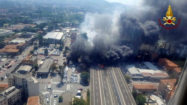 Conhecida a identidade da vítima mortal de explosão de camião em Bolonha