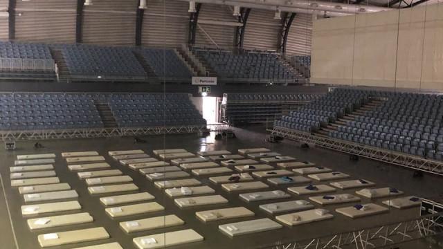 Portimão Arena: Um dos refúgios para quem foi obrigado a deixar tudo