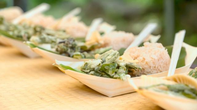 Louça comestível reduz pegada ambiental do Festival Bons Sons