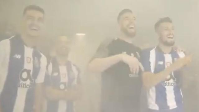 O gesto de Herrera que provocou gargalhadas aos companheiros