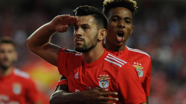 [3-0] Intervalo: Hat-trick de Pizzi dá vantagem larga ao Benfica