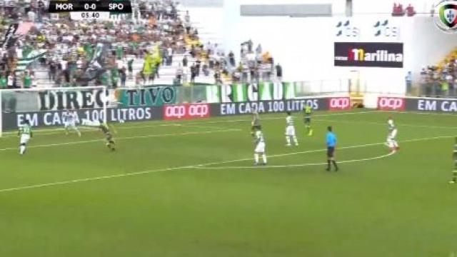 Heriberto inaugura marcador e deixa leão a perder logo aos seis minutos