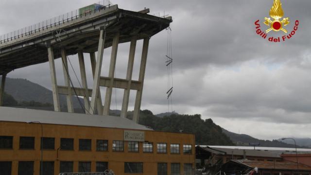 A primeira chamada para o 112 após a queda da ponte de Morandi
