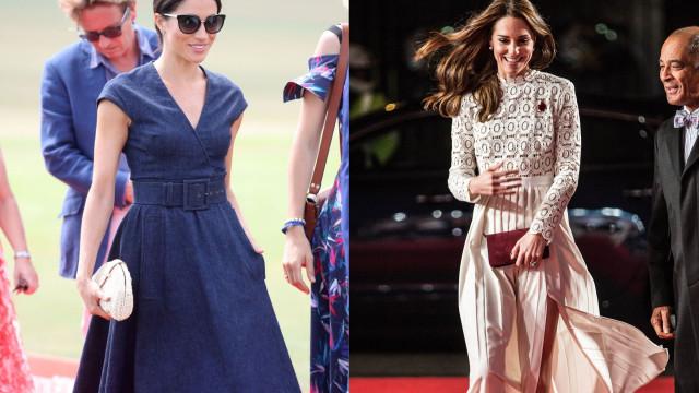 Vestidos ou saias: O truque de Meghan e Kate para o vento não as 'trair'