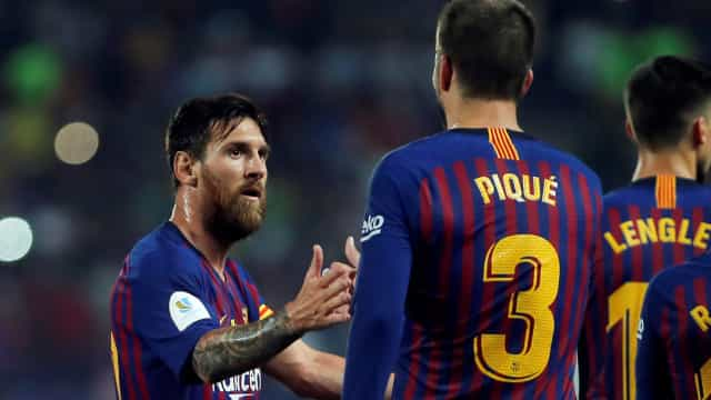 """""""Divórcio total entre Messi e Piqué"""", dizem em Espanha"""