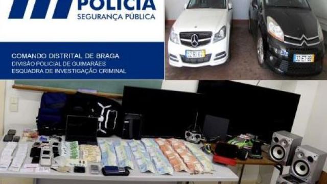 Três pessoas detidas por tráfico de estupefacientes em Guimarães