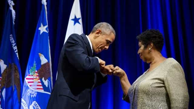 """Um vislumbre do divino"". Barack Obama reage à morte de Aretha Franklin"