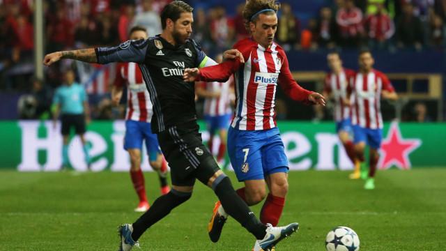 A comemoração de Griezmann que não vai agradar a Sergio Ramos
