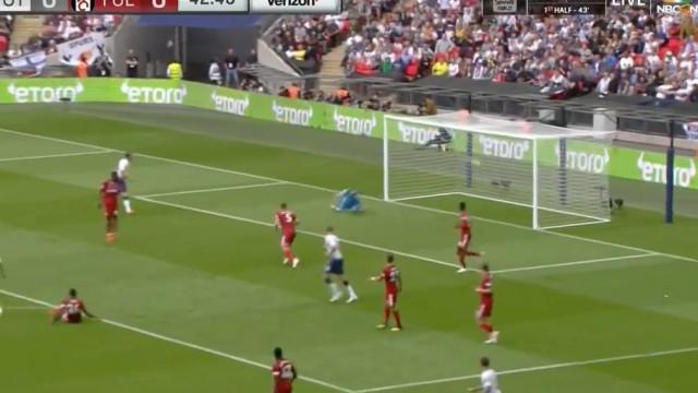 O fantástico golo de Lucas que abriu o marcador no Tottenham-Fulham