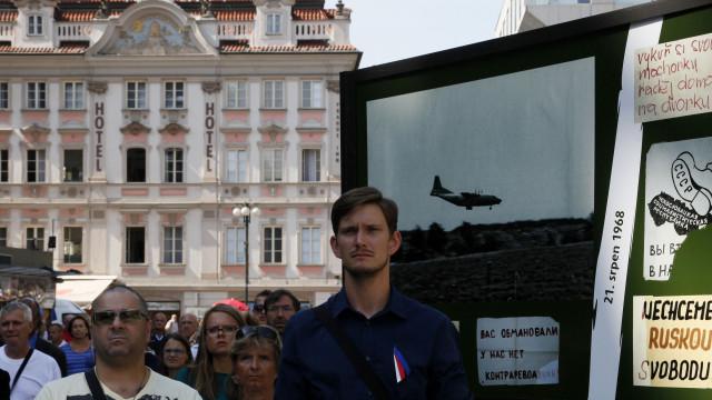Cerimónia assinala os 50 anos da invasão de Praga