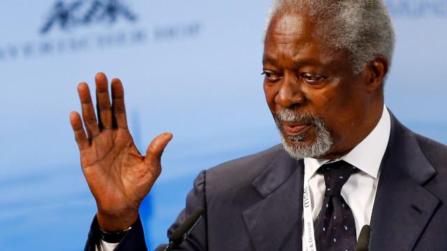Dirigentes de vários países e família na última homenagem a Kofi Annan