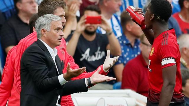 Andreas Pereira explica 'desaguisado' entre Mourinho e Pogba