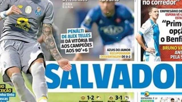 Por cá: O 'Salvador' Alex, o novo reforço das águias e o debate leonino