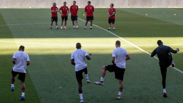 Três baixas no último treino do Benfica antes da receção ao PAOK