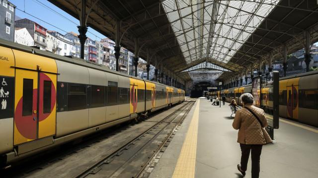 Circulação de comboios com fortes perturbações devido à greve