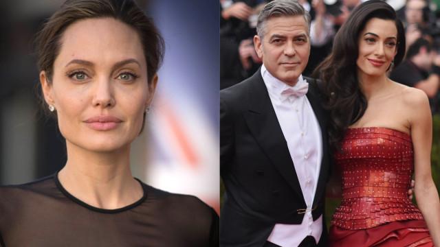 """O motivo pelo qual Angelina Jolie """"morre de ciúmes"""" de Amal Clooney"""