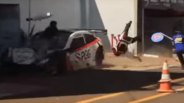 Atropelamento nas boxes deixa Brasil em estado de choque