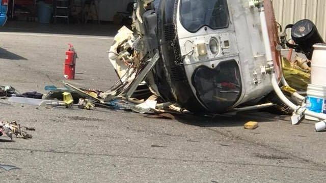 Helicóptero da polícia despenha-se a levantar voo nos Estados Unidos