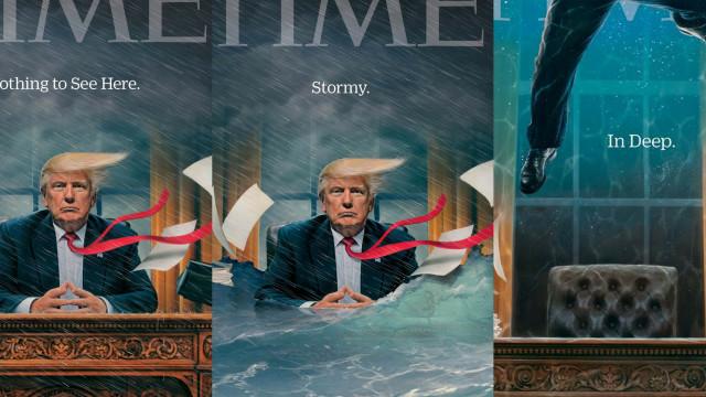 Após 'tempestade', nova capa da TIME mostra Donald Trump à deriva