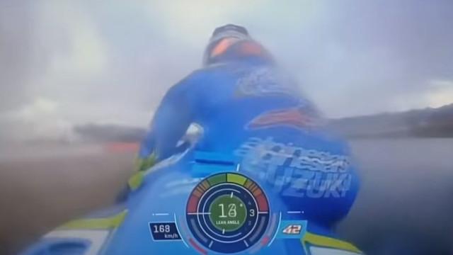 Susto na Moto GP: Piloto da Suzuki salta da moto a 160km/hora