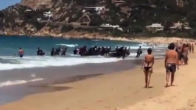 Divulgado vídeo de chegada de migrantes a praia espanhola