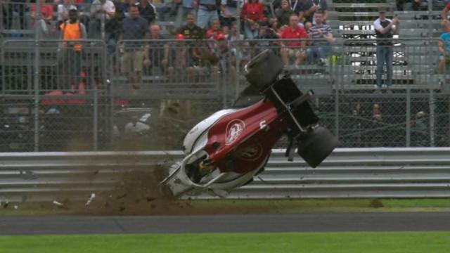 F1: As imagens do arrepiante acidente de Marcus Ericsson a 350km/h