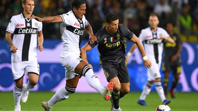 Ainda com Ronaldo 'a seco', Juve vence na deslocação ao reduto do Parma