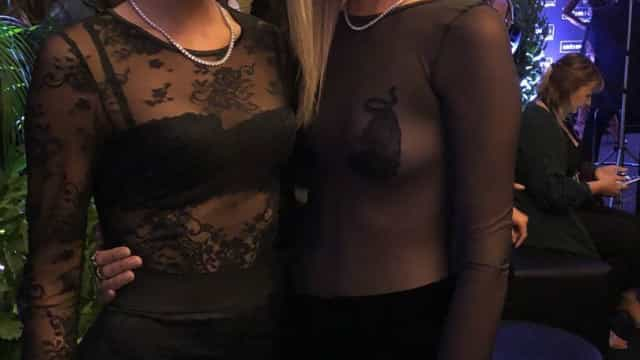 Bruna Marquezine e Chiara Ferragni juntas em Verona
