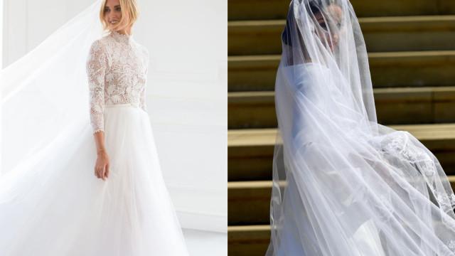 Vestidos de casamento de Chiara Ferragni 'superaram' os de Meghan Markle