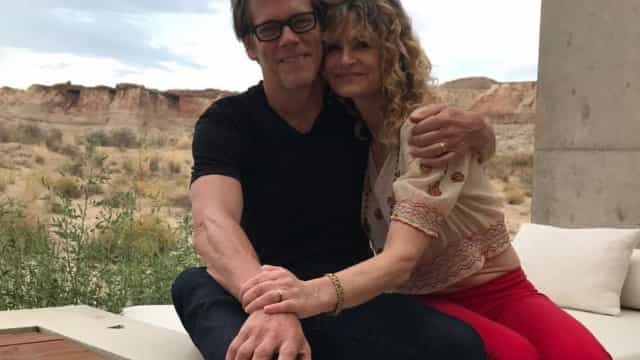 Kevin Bacon e Kyra Sedgwick assinalam aniversário de casamento